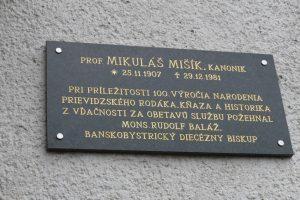 Slávnostné požehnanie tabule M.Mišíka 2007
